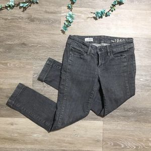 GAP Skinny Gray Denim Cropped Jeans